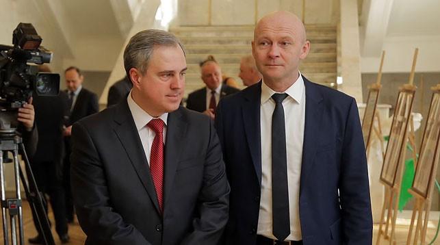 "Владимир Привалов и Александр Коробко. Фото   ""gp.by"""