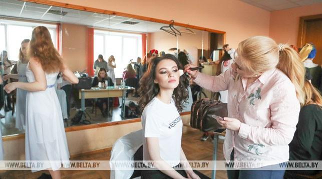 Во время подготовки к конкурсу. Фото из архива