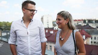 Патрисия Кросби с парнем Владимиром