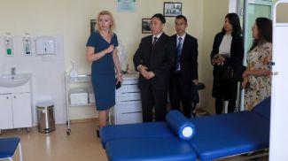 Китайская делегация посетила Могилевскую центральную поликлинику