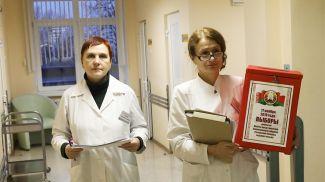 Во время голосования в Витебском областном клиническом родильном доме