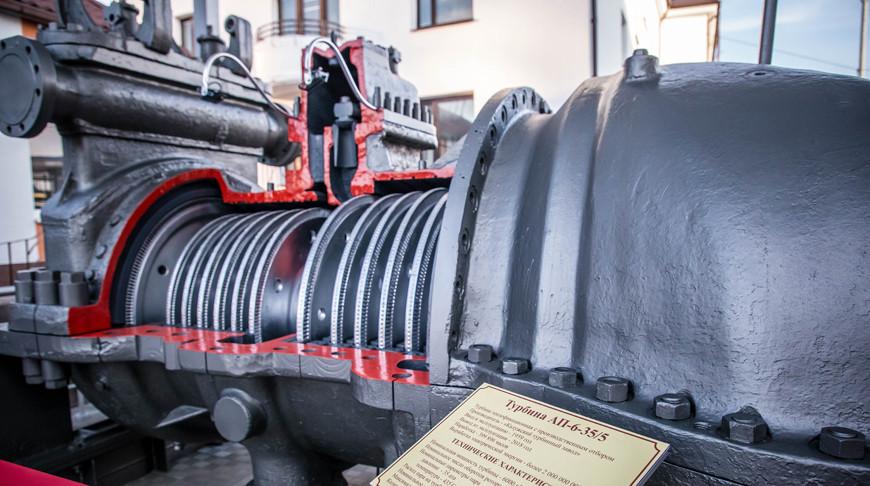 Памятный знак в виде турбины установили у Брестской ТЭЦ