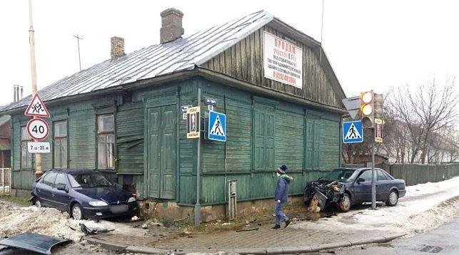 На месте происшествия. Фото ГАИ УВД Брестского облисполкома