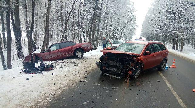 На месте происшествия. Фото ОГАИ Минского района