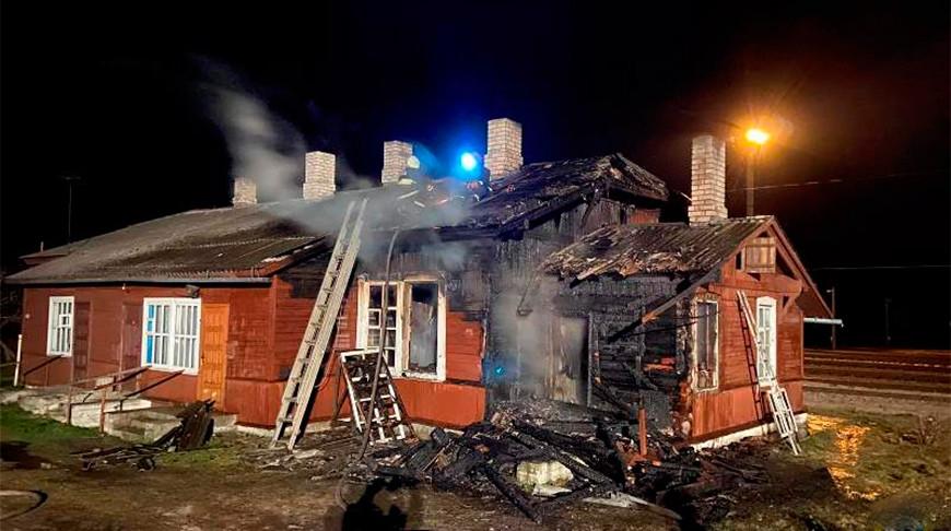 Пожар в Докшицком районе. Фото МЧС Витебской области