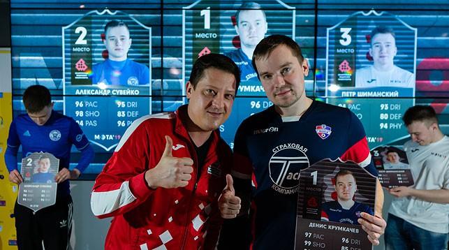 Денис Крумкачев (справа). Фото Белорусской федерации киберспорта