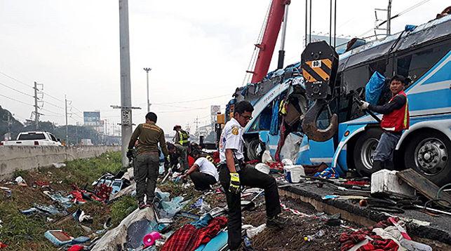 На месте происшествия. Фото Bangkok Post