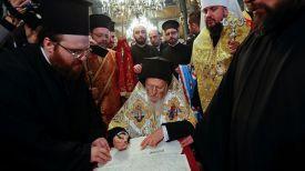 Патриарх Константинопольский Варфоломей (в центре). Фото Reuters