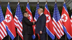 Ким Чен Ын и Дональд Трамп. Фото AP