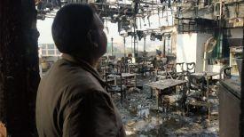 Пожар в Arpit Palace. Фото из Twitter-аккаунта TOI Delhi