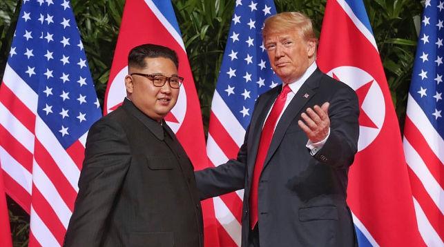 Председатель КНДР Ким Чен Ын и президент США Дональд Трамп. Фото из архива   The Telegraph