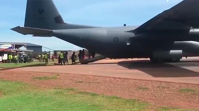 Во время эвакуация. Скриншот из видео SBS