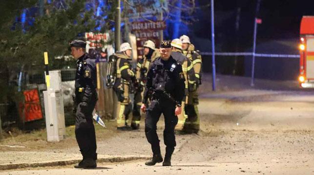 Место происшествия. Фото   expressen.se