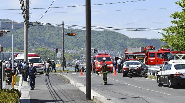 На месте происшествия. Фото Киодо