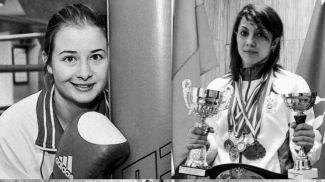 """Элина Гисмеева и Фатима Жагупова. Фото официальной группы Федерации кикбоксинга России во """"ВКонтакте"""""""