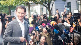 Себастьян Курц в день досрочных парламентских выборов в Австрии. Фото Getty Images