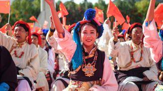 Во время праздника. Фото Синьхуа-БЕЛТА