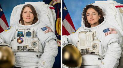 Кристина Кук и Джессика Меир. Фото из Twitter-аккаунта NASA
