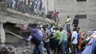 Жилой дом рухнул в Найроби - погибли три человека