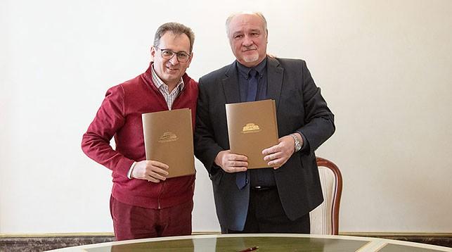 Богдан Струтинский и Владимир Гридюшко. Фото Большого театра Беларуси