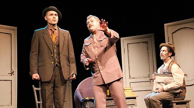 Сцена из спектакля. Фото из VK-аккаунта Полесского драм театра