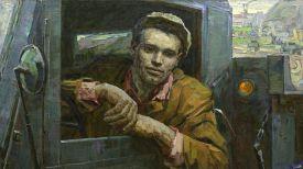 Портрет С.П. Прохоревича, шофёра, бригадира бригады коммунистического труда. Работа Ивана Стасевича, 1962 год