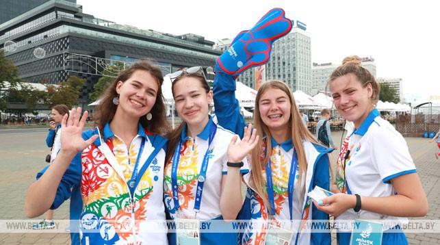 В главной фан-зоне II Европейских игр у Дворца спорта. Фото из архива