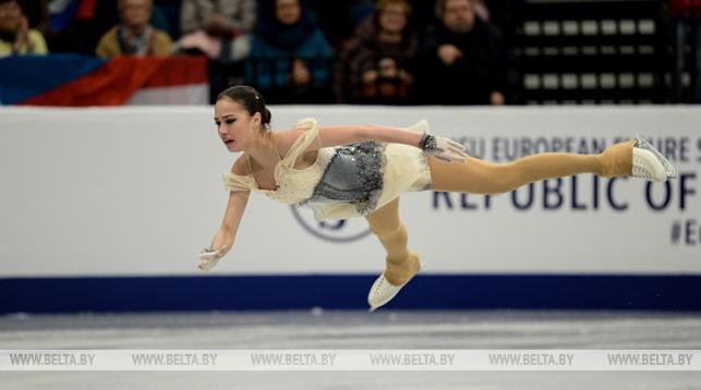 Алина Загитова (Россия) во время выступления
