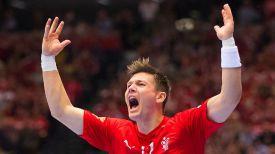 Гандболист сборной Дании. Фото организаторов турнира