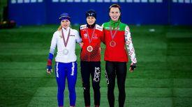 Наталья Воронина, Мартина Сабликова и Марина Зуева. Фото ISU