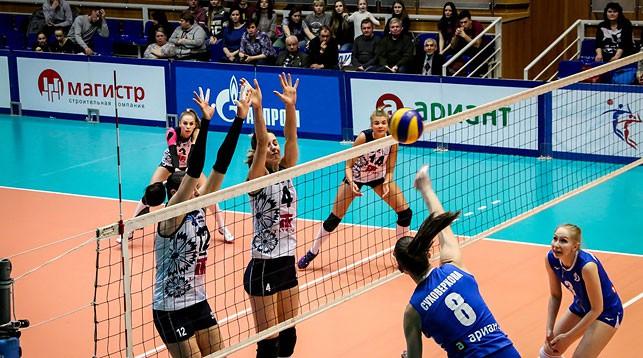 Во время матча. Фото Федерации волейбола России