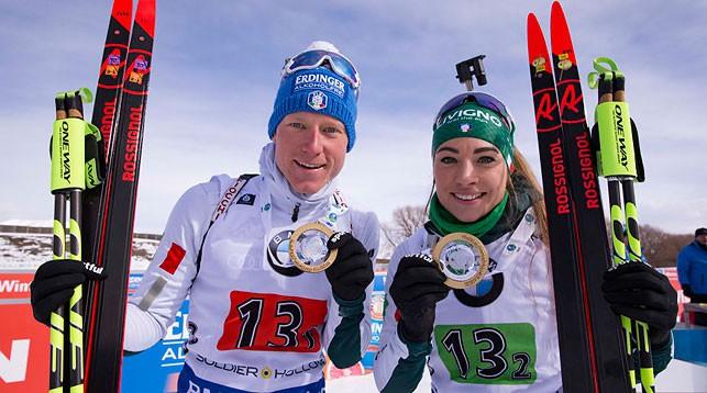 Лукас Хофер и Доротея Вирер. Фото IBU