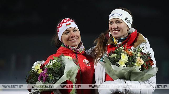 Надежда Скардино и Дарья Домрачева