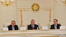 Во время пресс-конференции, посвященной намерениям Беларуси, Литвы и Польши подать совместную заявку на проведение ЧЕ-2026. Фото БФГ