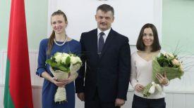 Дарья Домрачева, Сергей Ковальчук и Надежда Скардино