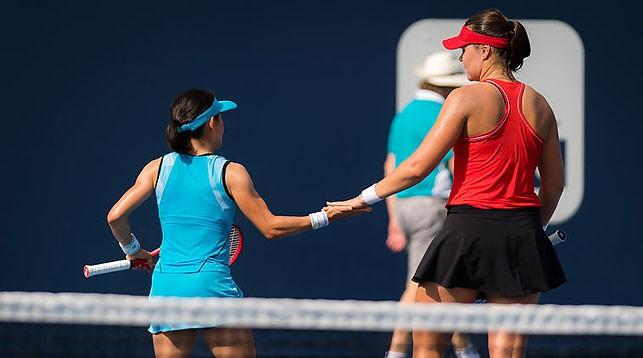 Лидия Морозова и Сюко Аояма. Фото Jimmie48 tennis photography