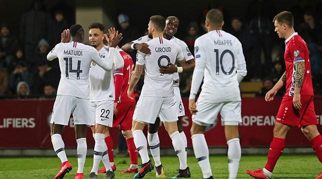 Во время матча Молдова - Франция. Фото Французской федерации футбола