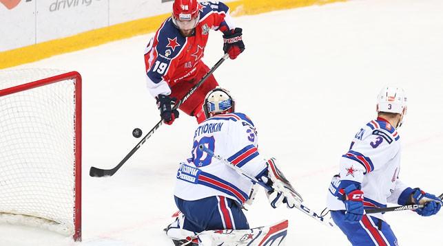 Во время матча. Фото ЦСКА