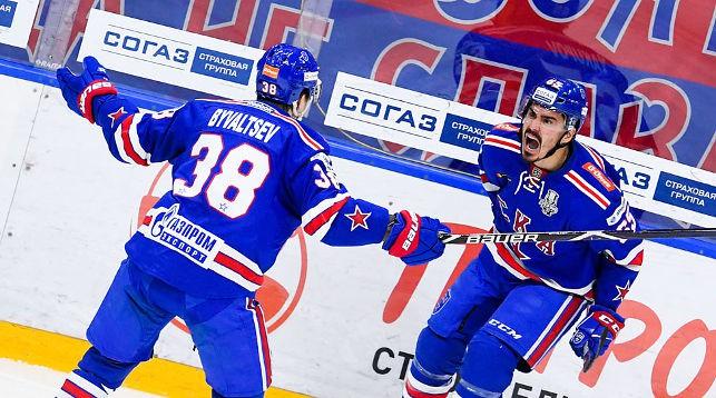 Во время матча. Фото СКА