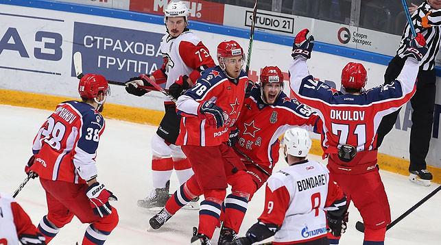 Во время матча. Фото ПХК ЦСКА
