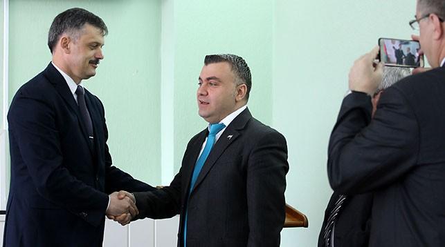 Сергей Ковальчук и Мохаммад Яхья. Фото Минспорта