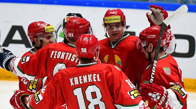 Хоккеисты сборной Беларуси. Фото IIHF