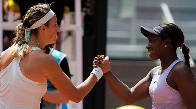 Виктория Азаренко и Слоан Стивенс. Фото Jimmie48 Tennis Photography