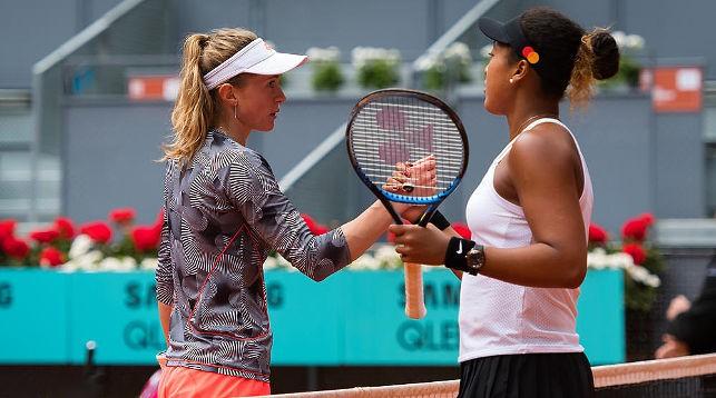 Александра Саснович и Наоми Осака. Фото Jimmie48 Tennis Photography