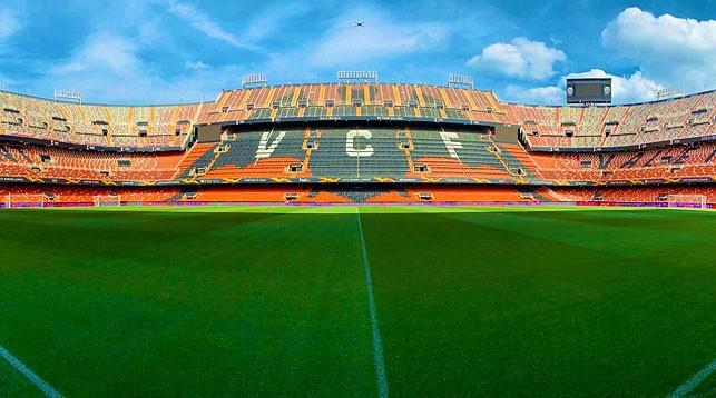 """Стадион """"Валенсии"""" - """"Месталья"""". Фото официального twitter-аккаунта """"Арсенала"""""""