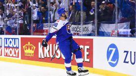 Во время матча США - Словакия. Фото IIHF