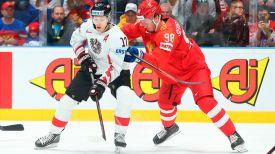 Во время матча Россия - Австрия. Фото IIHF