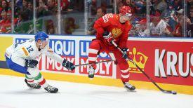 Во время матча Россия - Италия. Фото IIHF