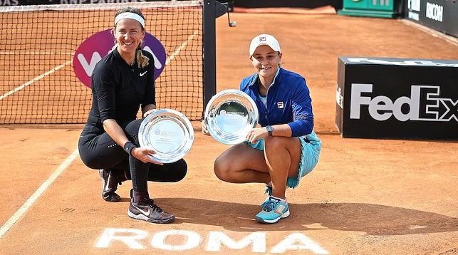 Виктория Азаренко и Эшли Барти. Фото официального сайта турнира