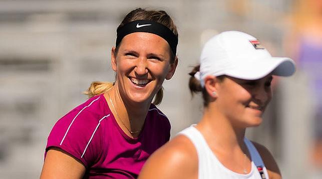 Виктория Азаренко и Эшли Барти. Фото из архива Jimmie48 Tennis Photography